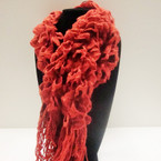 """Fashionable 12"""" X 60"""" Open Weave Curly Knit Winter Scarf $ 3.00 ea"""