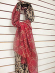 "2 Tone Print Fashion Scarf 36"" X 72"" Winter Colors $3.00 ea"
