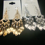"3"" Gold & Silver Chandelier Style Earring w/ Crystals .54 ea"