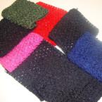 "2 Pack 4"" X 6"" Asst Winter Color Crochet Stretch Headwrap .50 per set"