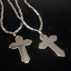 "2 Pack 22"" Hematite Cross Necklaces  .54 per set"