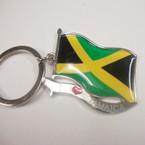 Jamaica Flag Metal Keychain .50 ea