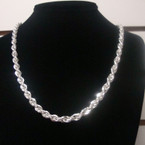 Ladies Silver Rope Style Fashion Chain Necklace .57 ea