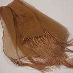 "19"" X 60"" Sheer Fashion Scarf w/ Hint of Glitter & Finges ONLY .75 each"