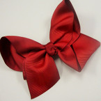 "5"" Burgundy Gro Grain Bow on Gator Clip .54 ea"