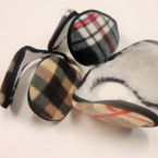 Ear Muffs Wrap Behind The Head Plaid Pattern Only .40 ea