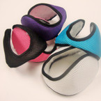 Ear Muffs Wrap Behind The Head Textured Fabric Asst Colors Only  .40 ea