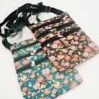 "6"" X 8"" Flower Print 2 3 Zipper Messenger Bag w/ Lg. Strap $ 1.04 ea"