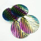 "3"" Metal Zebra/Animal Print Fashion Earring Multi Color .50 ea"