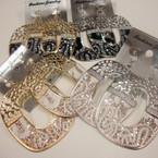 "2.5"" Gold & Silver Fashion Earring w/ Sparkles .50 ea"