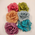 """Great Color Mix 4"""" Silk Flower 3 in 1 Bow .54 ea"""