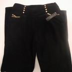 Copy of Ladies All Black Winter Pant Fur Lined Gold Stud w/ Stone L/XL $ 7.50 each