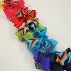 "4"" Colorful Gro Grain Bow w/ Chevron Ribbon on Gator Clip .54 ea"