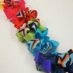 """4"""" Colorful Gro Grain Bow w/ Chevron Ribbon on Gator Clip .54 ea"""