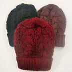 Thick Textured Pattern Knit Winter Cap $ 1.75 ea