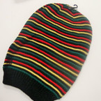 "9"" X 13"" Rasta Color Slouchy Knit Cap sold by dz $ 2.50 ea pc"