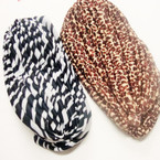 Zebra & Animal Print Turbins 12 per pk  $ 1.25 ea