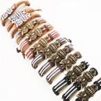 Teen Leather Bracelet Owl Theme (425) .54 ea