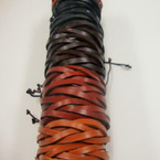 Teen Leather Bracelet Interlocked Multi Starnd Mixed Colors (373)  .54 ea