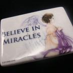 "2.75"" Ceramic Magnet w/ Believe in Miracles 12 per bx   .50 ea"