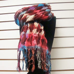 "12"" X 72"" Designer Look Crinkled Multi Color Pattern  Scarf Only $ 3.50 ea"