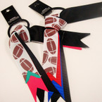 Football Theme Ribbon Ponytailers .54 ea