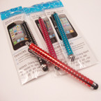 "4.5"" Clip On Style Touch Screen Pen Silver Dot Pattern  .54 ea"
