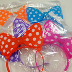 Multi Function Flashing Poka Dot Headbands ON SALE Only .65 ea