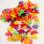 "40"" Multi Color Pedal Leis 12 per pack .40 ea"