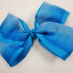 "5"" 2 Layer Gator Clip Bow w/ Gradiant Color Chiffon .54 ea"
