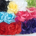 "5"" Mixed Bright Color Flower Bow w/ Feathers 3 in 1 Use .54 ea"
