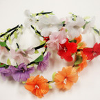 Black Headband Wrapped w/ Colorful Flowers & Mini Pearls   .54 ea