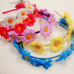 Asst Color Headband w/ Colorful Flowers   .54 ea