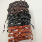 Black & Browntone Knot Style Teen Fashion Bracelet .54 ea