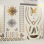 Golden Flash Tattoos 8 Asst Styles Per Pack (257) .65 ea sheet