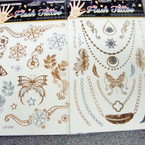 Golden Flash Tattoos 6 Asst Styles Per Pack (256) .65 ea sheet