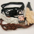 Trendy Rope Style Knot Headband w/ Elastic Back .54 ea