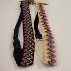 Trendy Black & White Chevron Pattern Headband w/ Elastic Back .54 ea