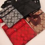 "5"" X 6"" Long Strap 2 Zipper Side Bag Designer Look Print Only .60 ea"