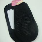 PEDS Style Slip on Socks w/ Grip All Black per dz .50 per pair