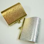 """3.5"""" Metallic Gold & Silver Snap Closure Coin Purse .54 ea"""