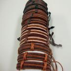 Teen Leather Bracelet Mutli Stand Cords .54 ea