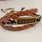 Dream Leather Multi Strand Bracelet .54 ea