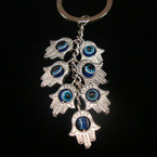 "3"" Multi Hand of Protection  Dangle Keychain .54 ea"