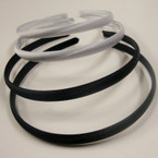 4 Pk Satin Headband Asst Black & White 48 pcs per pk