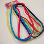 6 Pack Mixed Bright Color Elastic Headbands NO METAL .42 per set