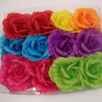 "5"" Very Colorful Silk Flower Bow  3 in 1 Use .54 ea"