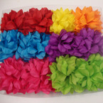 "5"" Big Ruffle Silk Flower Bow 3 in 1 Use Mixed Bright Colors .54 ea"