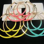 "2.5"" DBL Gold Epoxy Color Fashion Hoops .50 ea"