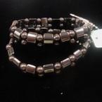 2 Pack Fashionable Hematite Stretch Bracelets .60 per set